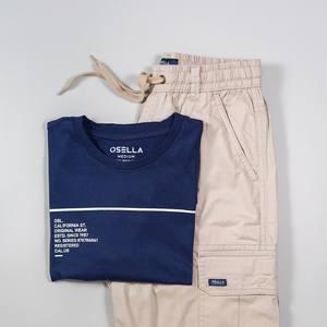 A pair of @osellaman tee & short cargo pants to complete your weekend is always a good idea. 🔥 . . . . Koleksi Osella bisa kamu dapatkan secara offline di Matahari Dept Store dan showroom terdekat di mall kesayangan kamu atau secara online di: linktr.ee/OSELLA.SHOPNOW