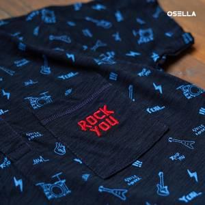 Rockin' good time with this shirt for your little one! . . . . Koleksi Osella bisa kamu dapatkan secara offline di Matahari Dept Store dan showroom terdekat di mall kesayangan kamu atau secara online di: linktr.ee/OSELLA.SHOPNOW