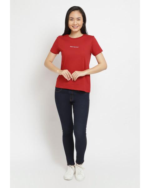 Osella Baju Perempuan Dress Kotak Kotak Red