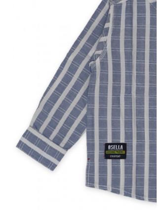 OSELLA Baju Perempuan Kemeja Lengan Panjang Stripe White