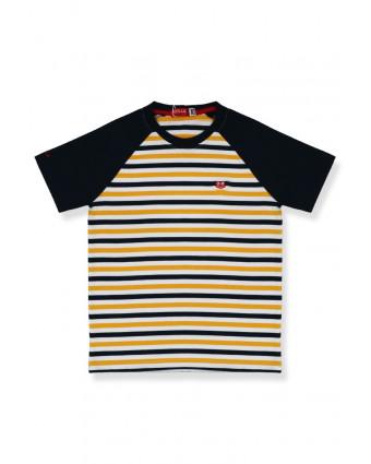 OSELLA Baju Anak Laki-Laki T-Shirt PRINT ROCK & ROLL Stripe Red