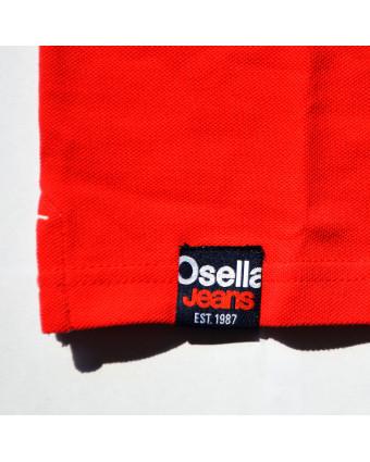 Osella baju pria kemeja lengan panjang  kotak Red