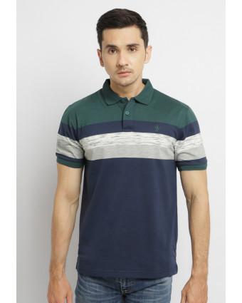 Osella Baju Perempuan Overall stripe Indigo